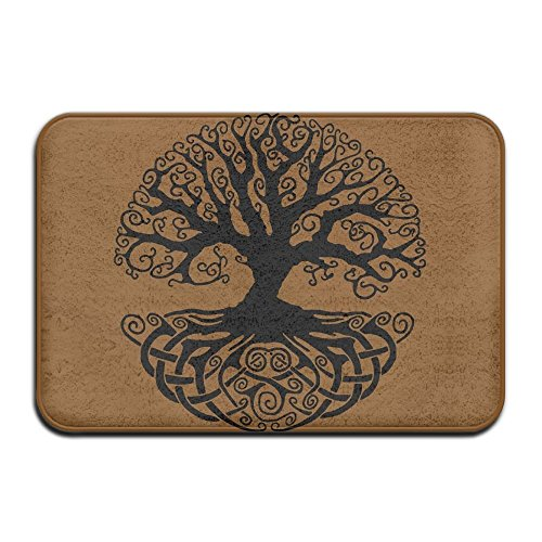 - Indoor/Outdoor Door Mats With Celtic Tree Knots Printed For Front Porch
