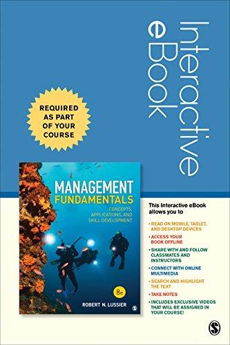 Management Fundamentals Interactive eBook Student Version: Concepts, Applications, and Skill Development