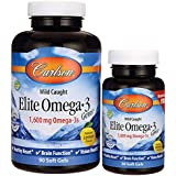 Carlson Labs - Norwegian Elite Omega-3 Gems Fish Oil Professional Strength Lemon Flavored 1600 mg. - 120 Softgels