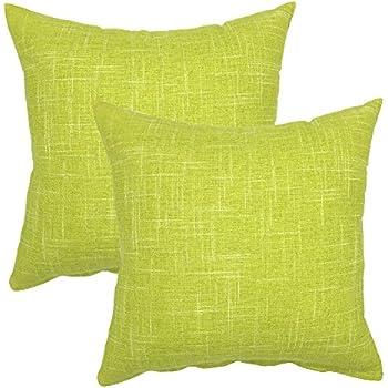Amazon Com Your Smile Solid Color Decorative Cotton Linen