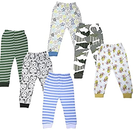 92c8d1e4f Jolipo Cotton Baby Pajama Pants Unisex with Rib (Pack of 6)  Amazon ...