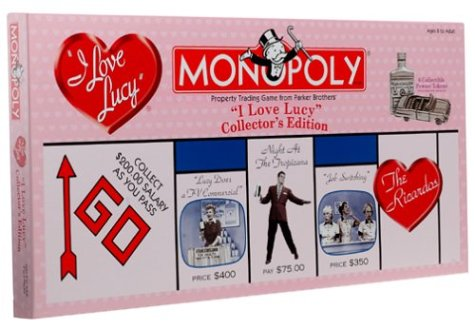 Anniversary Collectors Edition Monopoly - I Love Lucy 50th Anniversary Collectors Edition Monopoly Board Game