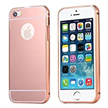 For iPhone 5 5s SE Case, FLOVEME Ultra Thin Mirror Electroplate Back Cover Case for Apple iPhone 5 5s SE - Rose Gold