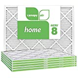 Canopy Air 20x25x1, Home AC Furnace Air Filter, MERV 8, Made in The USA, 6-Pack (Actual Size 19 1/2' x 24 1/2' x 3/4')