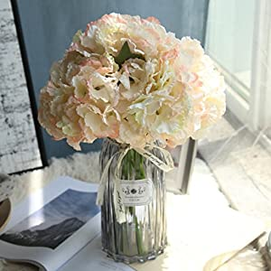 Vacally Artificial Silk Fake Flowers Peony Floral Wedding Evening Party Ceremony Bouquet Bridal Hydrangea For Living Room Home Decor (Multicolor 8) 3