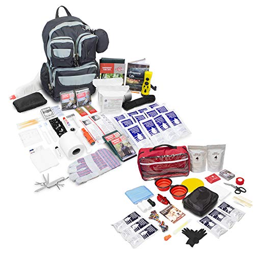 Emergency Zone Bundle & Save 2 Person Urban Survival Bug Out Bag + Basic Dog Emergency Kit | Perfect Way to Prepare Your Family for 72 Hours | Be Ready - Survival Kit Pet