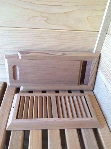 Cedar Sauna Air Vent Set Outdoor Cedar Sauna