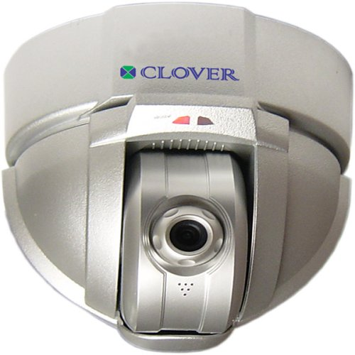 Cameras Security Clover - Clover Electronics CNPT-1 Clover Pan-Tilt Networking Color Security Camera - Small (Silver)