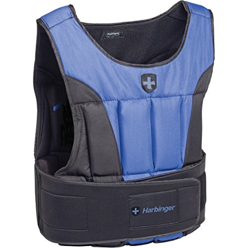 Harbinger Men's Adjustable Weight Vest for Cross-Training, Strength Training, and Endurance Workouts, 40 Pounds