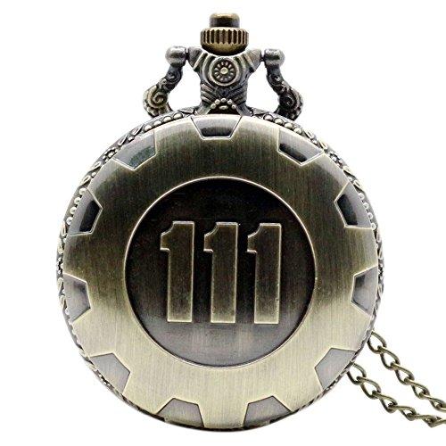 YOIOY Retro Quartz Chain Pocket Watch Fallout 4 Theme Pendant