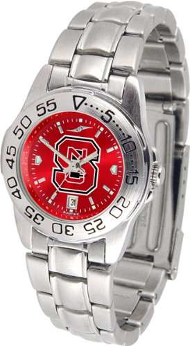 (Linkswalker North Carolina State Wolfpack Ladies Sport Steel Anochrome Watch)