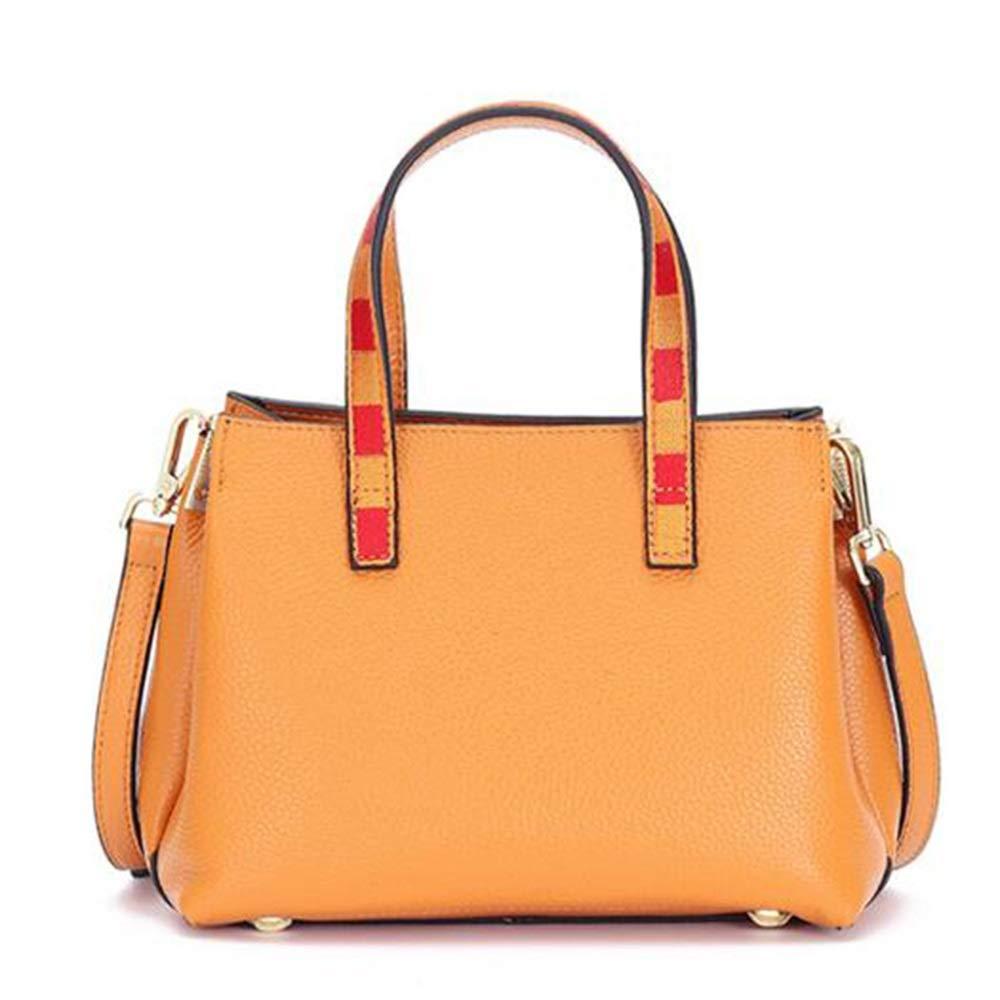 GAL Neue Trend Casual Fashion Rechnungen Schulter Kleine Lederhandtasche Geschlungen (Farbe : Black) Yellow