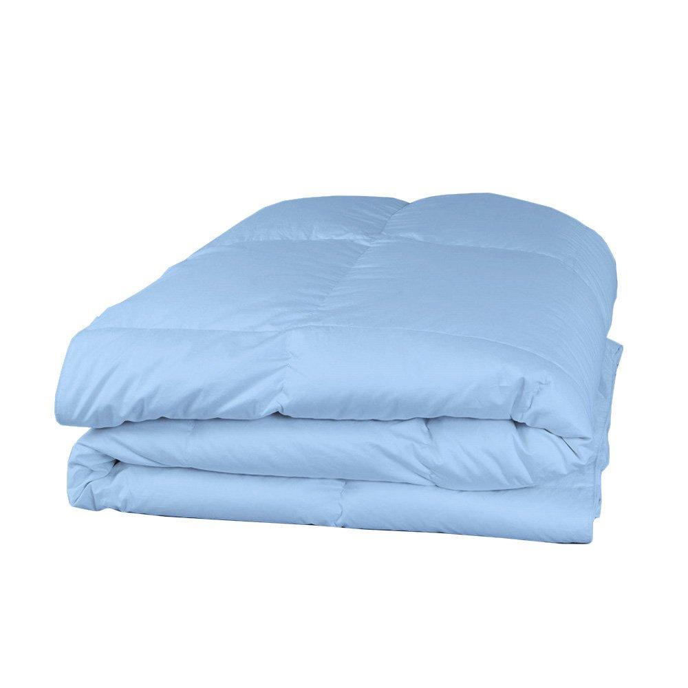 Relaxare 400TC 100 %エジプト綿掛け布団 ソリッドカラー 超ソフト ソフト通気性プレミアムファブリック King XL ブルー RE41PCCCSQEGBLSO-KXLIN B01NGUDDX9 ライトブルー無地 King XL