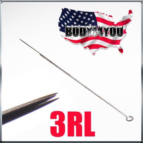 1TattooWorld 50 Pcs 3 Round Liner Sterilized Tattoo Needles, OTW-50-3RL