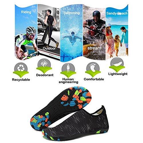 Sport Femme Yoga B Chaussures SITAILE de de Adulte Chaussettes D'Été d'eau Homme Rapide Plage Aquatiques Noir Chaussures Nus Chaussures Enfant Séchage Pieds Aquatique Unisexe 665YBqw
