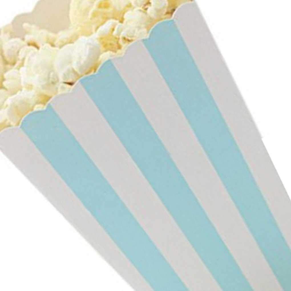 Set Pop-Corn Bo/îte Bonbons sanck Sacs Favor Stripes Sacs Cadeaux de f/ête de Mariage Favor Fournitures Kids Party Film Bobury 12pcs