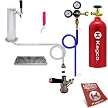 Kegco BF EBDTCK-T742_5T Deluxe Tower Kegerator Conversion Kit with 5 lb Co2 Tank, Stainless Steel