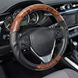 2012 ford focus wheel cover - BDK ACDelco Compatible Car Steering Wheel Cover Replacement Cover for 14.5 to 15.5 Wheel, Synth Leather Dark Wood Burlwood