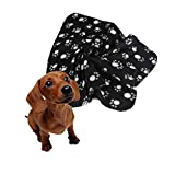 Glumes Clearance Soft and Comfortable Pet Blanket Paw Printing Warm Fleece Blanket Sleep Mat Pad Bed Cover Suitable for Puppy Dog Cat Ideal