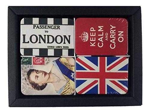 Uk Fridge (Refrigerator magnets set of 24 UK-London souvenirs fridge magnet tiny mini small office gifts kitchen souvenir magnetic office (UK-London with box))