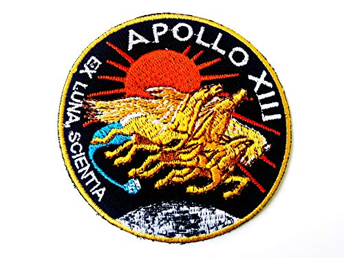 Tyga_Thai Brand NASA Apollo 13 Patch Embroidered Iron Sew on Badge Applique Astronaut Space Suit Program Souvenir DIY Costume (IRON-NASA-APOLLO-13) -