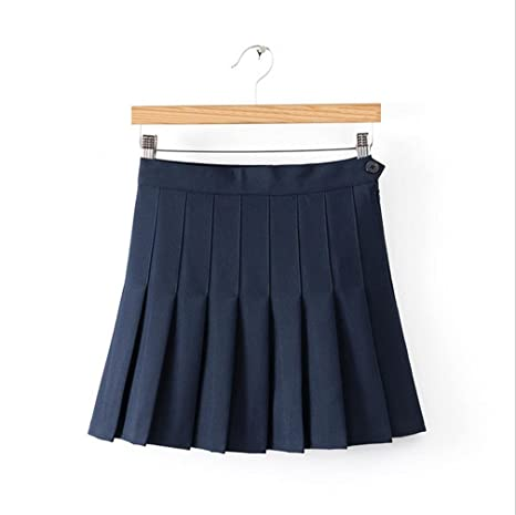HY Falda De Tenis Falda Linda Juguetona Cintura Alta, Navy Blue, M ...
