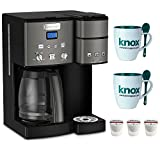 Cuisinart Coffee Center Maker, SS-15BKS, Black Stainless Includes 12 Pack K-Cup and Mug with Spoon