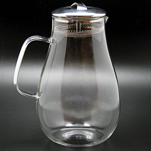 Christina Home Designs Glass Pitcher | 64 oz Iced Tea Pitcher with Lid Water Pitcher Carafe with Handle Drink Pitcher Made of Borosilicate Glass Ideal for Party, Bridal Shower, Birthday, Everyday Use by Christina Home Designs (Image #5)