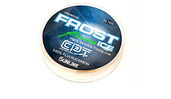 8 LB Test Clear Clam FROST ICE Monofilament Ice Fishing Line