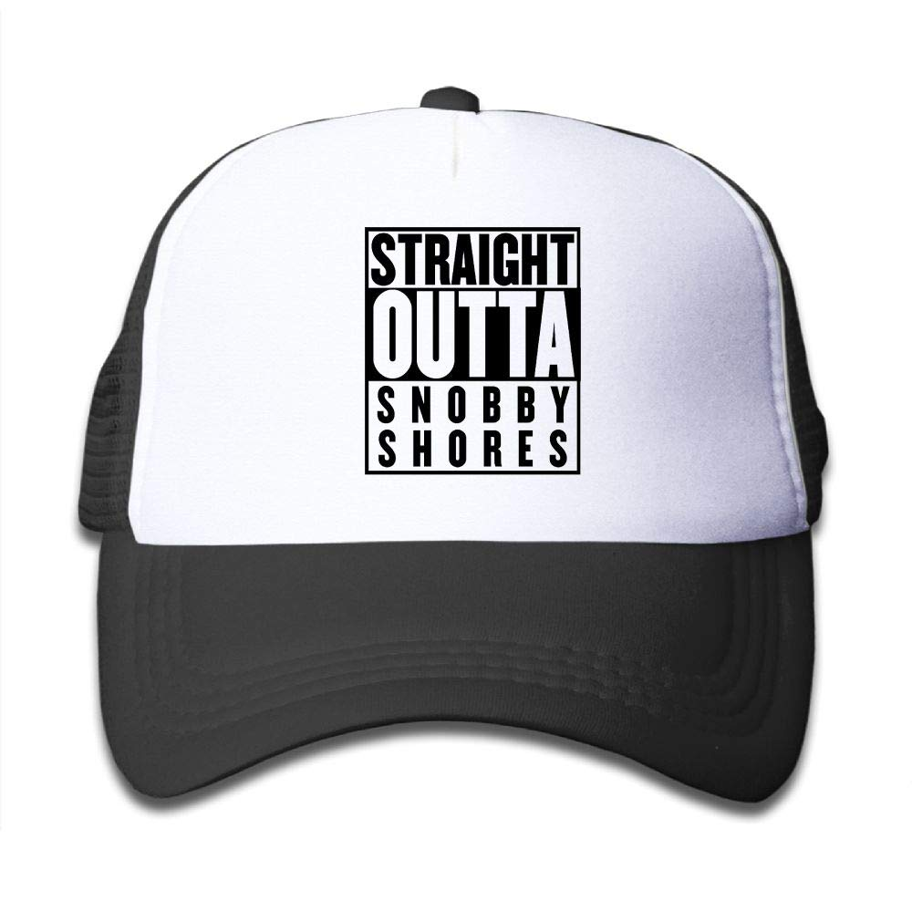 Aidear Straight Outta SNOBBY Shores Boys & Girls Mesh Hat Fashion Child Mesh Hat One Size