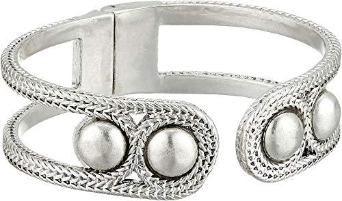 Lucky Brand Women's Chain Hinge Cuff Bracelet, Silver, One Size