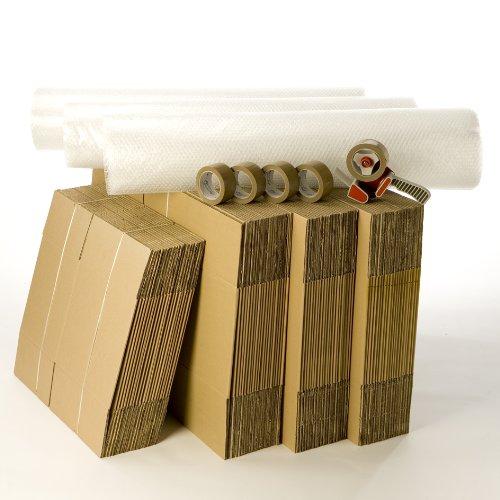 Kit cartons déménagement T5-T6 avec 5 rouleaux d'adhésif gratuits CartonsDeDemenagement.com