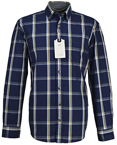 camel active Herren Freizeit-Hemd Blau Blau Medium