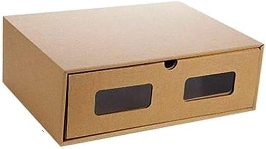 Raybre Art® Caja de Zapatos de cajón de Bricolaje Organizador de Papel Kraft Botas de Almacenamiento Zapatillas de Deporte Funda a Prueba de Polvo: Amazon.es: Hogar