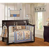 BabyFad Jungle Boy 10 Piece Baby Crib Bedding Set