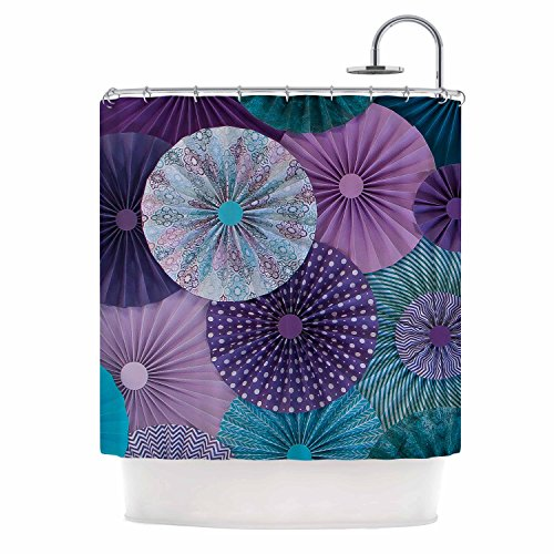"KESS InHouse Heidi Jennings ""Amethyst Glacier"" Teal Purple Shower Curtain, 69 by 70-Inch from Kess InHouse"