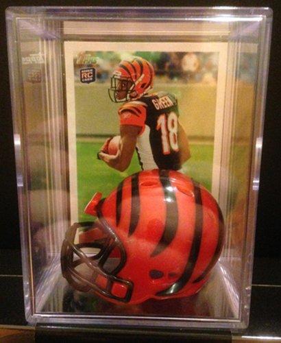 Cincinnati Bengals Card - Cincinnati Bengals NFL Helmet Shadowbox w/ A.J. Green card