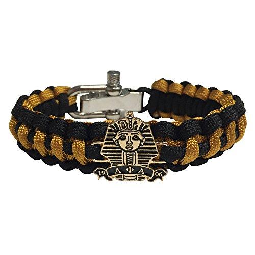 Alpha Phi Alpha Paracord Bracelet   Adjustable Size