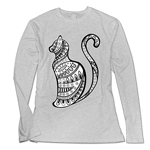 Litter Box Placement (Liheqxij Cat 1 Women's Fashion Long Sleeve T-Shirt XXL Ash)