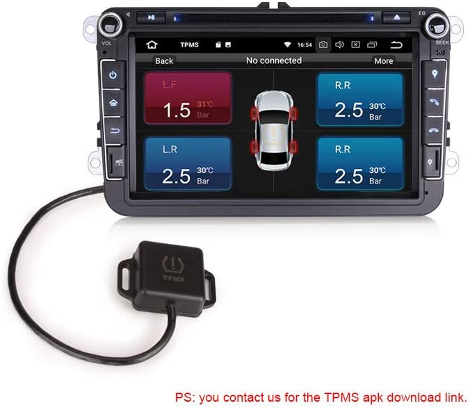 erisin USB TPMS m/ódulo Herramienta de presi/ón de neum/áticos 4 sensores para Android 8.0 8.1 est/éreo