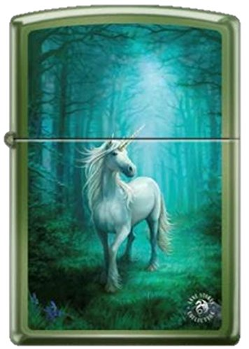 """""""Forest Unicorn"""" by Anne Stokes - Zippo Lighter"""