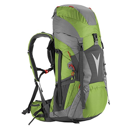 Xin.S60L Mochila Al Aire Libre Bolsa De Alpinismo Impermeable Gran Capacidad Bolso De Hombro Mochila De Viaje Mochila. Multicolor Green