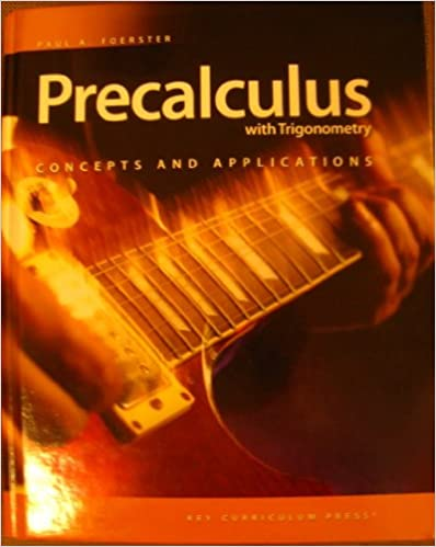 Precalculus with Trigonometry: Concepts and Applications - Student Edition (includes online access)