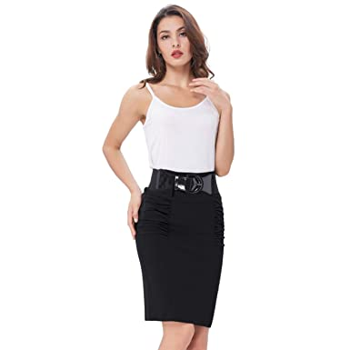 be349b6e9b Image Unavailable. Image not available for. Color  Dapigu Pencil Skirts  Sexy Womens Business Skirt High Waist Elastic Bodycon Skirts