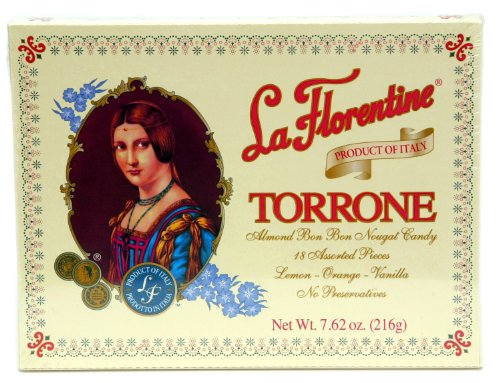 (Pack of 5) La Florentine Torrone Italian Soft Almond Nougat Candy, 18 pc Assortment Each Box Italian Almond Candy