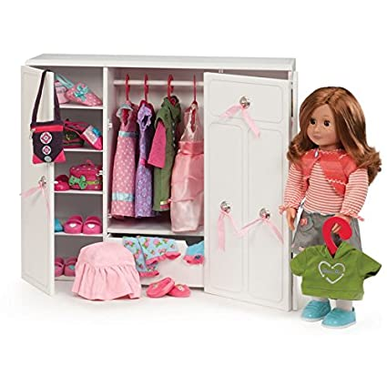 Amazon Com Our Generation Dolls Wooden Wardrobe Doll 18 Toys Games