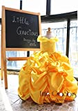 Bella Dress Long Dress LittleGracious Pageant dress Gold Yellow Birthday Dress|Flower girl dress| Halloween Dress Thanksgiving LG029