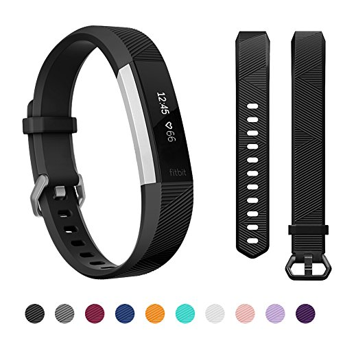 Kutop Bands Compatible for Fitbit Alta Fitbit Alta HR, Silicone Adjustable Replacement Sports Accessories Band Wristbands for Men Women, Small Large ()