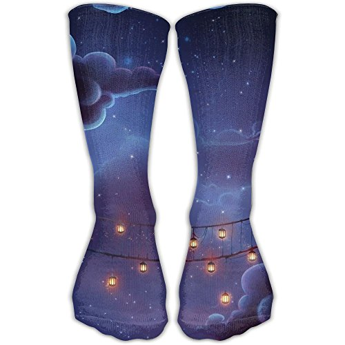 Abstract Animated Bridges Women & Men Socks Soccer Sport Tube Stockings Length 30cm -