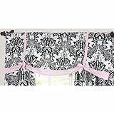 Sweet Jojo Designs Pink and Black Sophia Window Valance